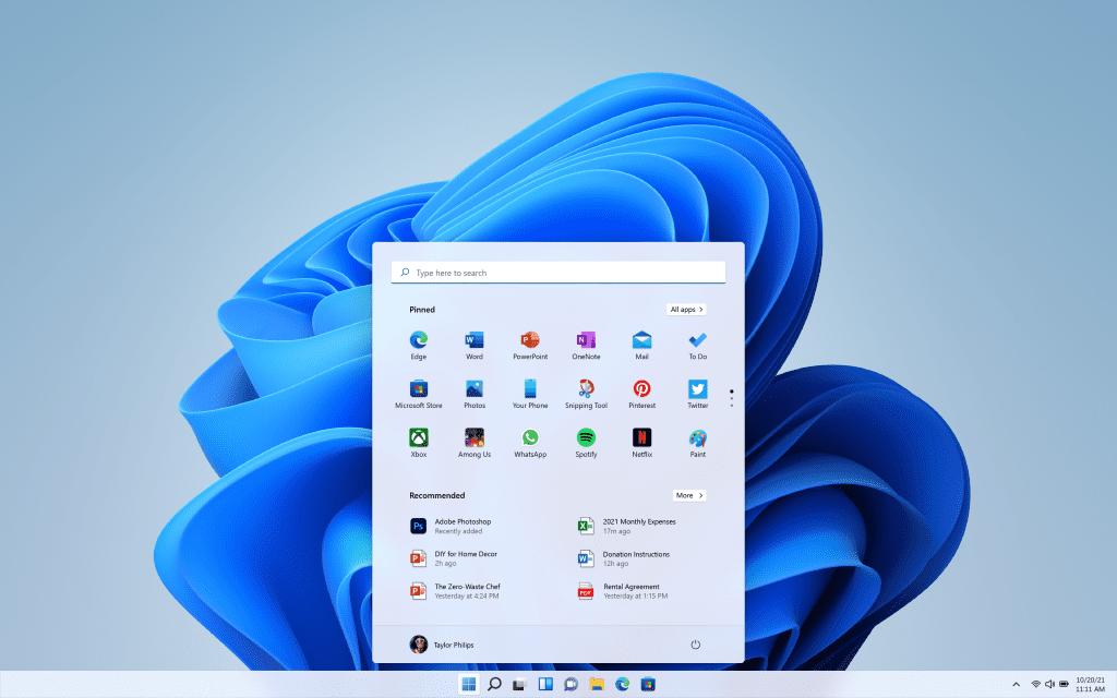 Startmenu Windows 11
