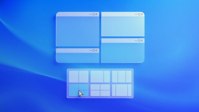 Snap layouts groups